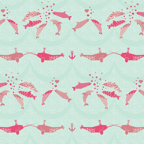 Narwhals and dolphins
