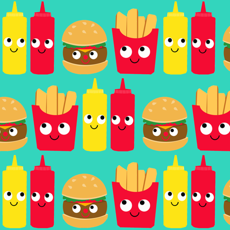 Fast Food fabric by heidikenney on Spoonflower - custom fabric
