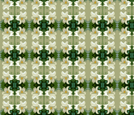 Easter Lily fabric by joeysworld on Spoonflower - custom fabric
