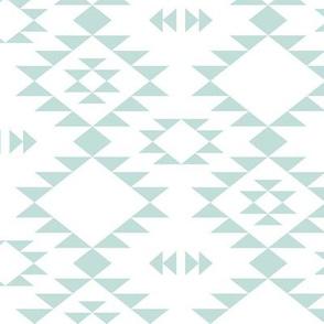 Navajo - Aqua white