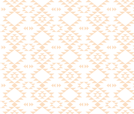 Navajo - Coral fabric by kimsa on Spoonflower - custom fabric