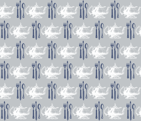 Time for Tea fabric by ajoyfulriot on Spoonflower - custom fabric