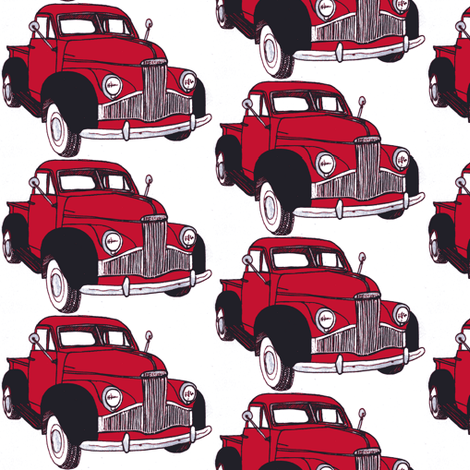 Studebaker M series truck 1946 1947 1948 fabric by edsel2084 on Spoonflower - custom fabric