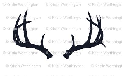 Deer Antlers in Navy (Half Scale)
