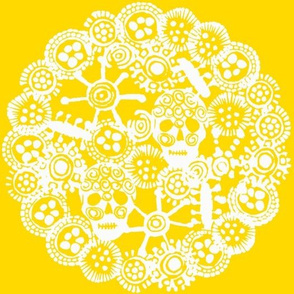 •WHEEL•  Sunflower and White
