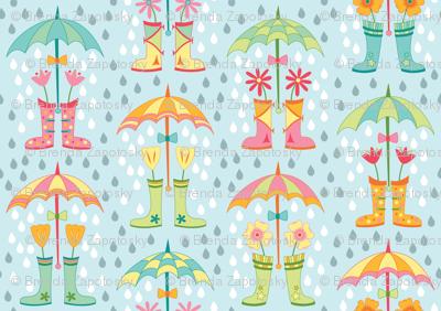 Raindrops and Rainboots (April)
