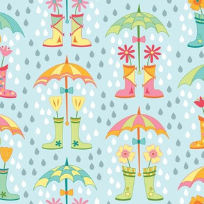 Raindrops and Rainboots (April)