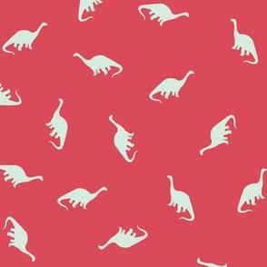 Ditsy Brontosaurus - Pink