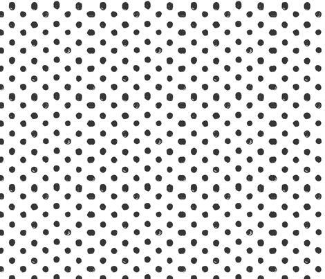 Black and White Scribble Dot - Small fabric by acdesign on Spoonflower - custom fabric