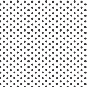 Black and White Scribble Dot - Small