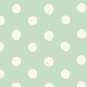 Mint & Cream Scribble Dot - Medium