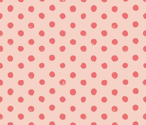 Pink & Dark Pink Scribble Dot - Medium fabric by acdesign on Spoonflower - custom fabric