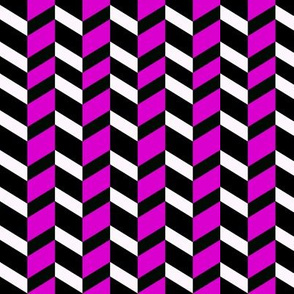 Hot Magenta Chevron