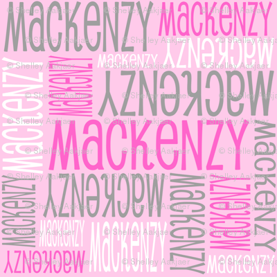 Personalised Name Design - Pink White Grey