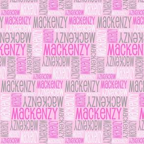 Personalised Name Design - Pink White Grey