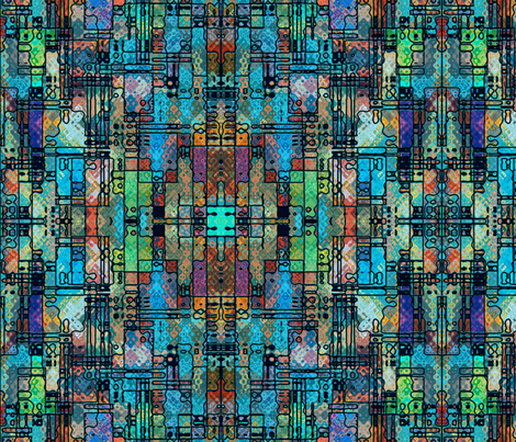 The Mad Scientist's Glass fabric by elramsay on Spoonflower - custom fabric