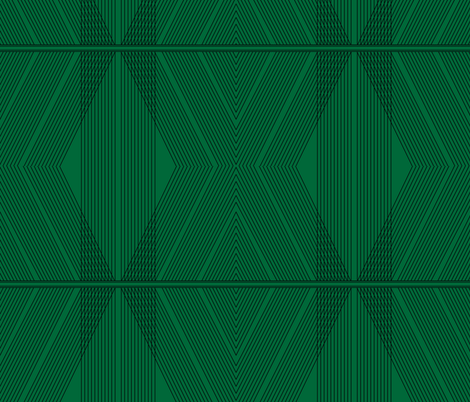 Art Deco Chevron - Emerald fabric by acdesign on Spoonflower - custom fabric