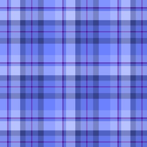 Blue Plaid  fabric by kiniart on Spoonflower - custom fabric