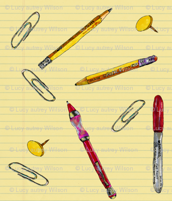 Office Supplies on Paper