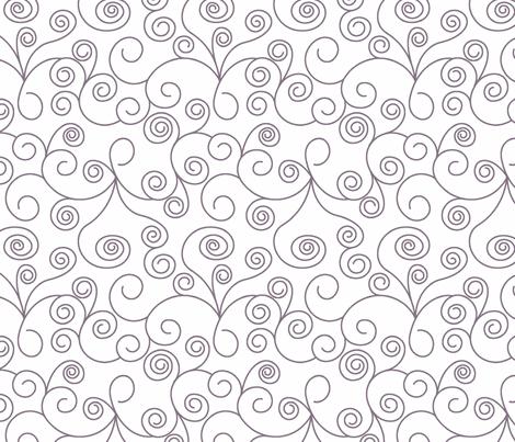 Twirl_Gray_onerep fabric by laurapolk on Spoonflower - custom fabric