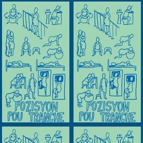 pozisyon pou tranche (labor and birth positions)