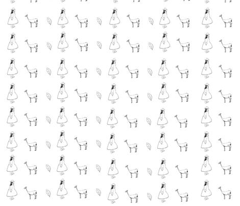 Person,Plant,Animal fabric by vita-coyotellc on Spoonflower - custom fabric