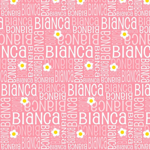 Personalised Name Design - Coral Daisies