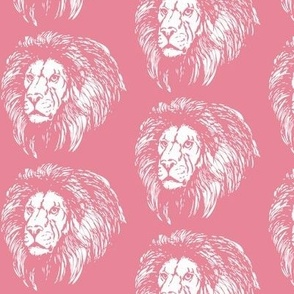Cotton Candy Pink Lion