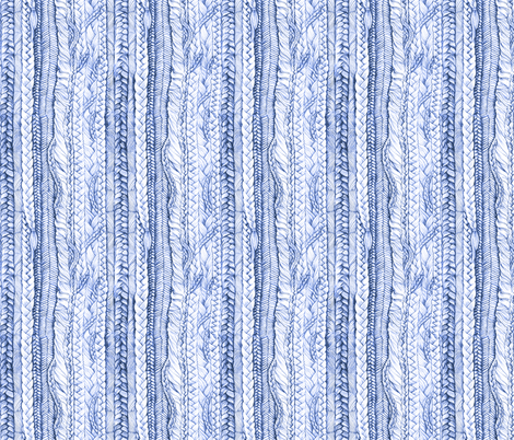 Braided in Pen Ink Blue fabric by thistleandfox on Spoonflower - custom fabric