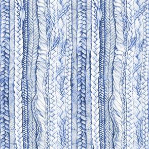 Braided in Pen Ink Blue