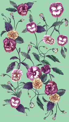 Pansy Purple on Peppermint