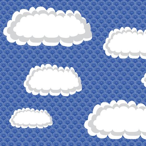 Fluffy Cloud Design fabric by vanillabeandesigns on Spoonflower - custom fabric
