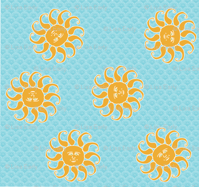 Happy Sun Scatter Print