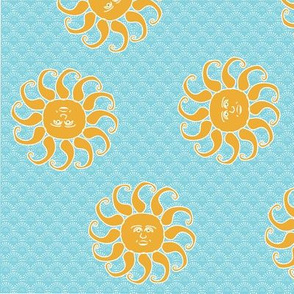 Happy Sun Scatter Print