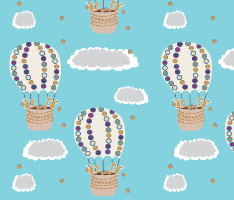 Look out below! fabric by vanillabeandesigns on Spoonflower - custom fabric