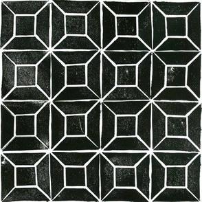 Geometric  Lino Print
