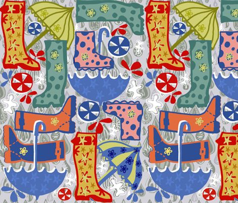 Wow Wellies! fabric by slumbermonkey on Spoonflower - custom fabric