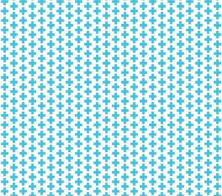 Crosses Aqua fabric by bub&cub on Spoonflower - custom fabric