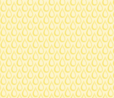 Raindrops - Yellow fabric by lunasol on Spoonflower - custom fabric