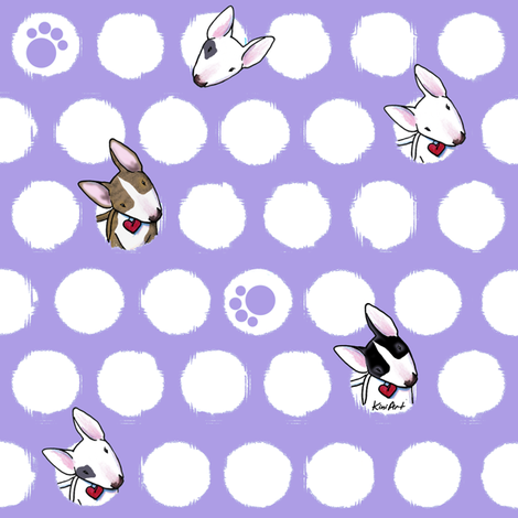 Bully Dots  On Purple fabric by kiniart on Spoonflower - custom fabric