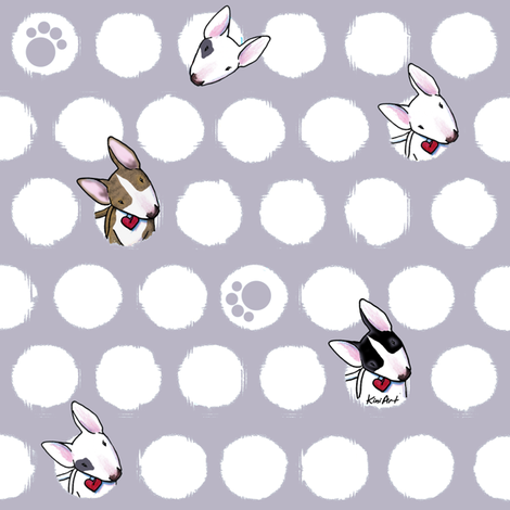 Bully Dots On Gray fabric by kiniart on Spoonflower - custom fabric
