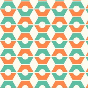 Hexy Tangerine Turquoise
