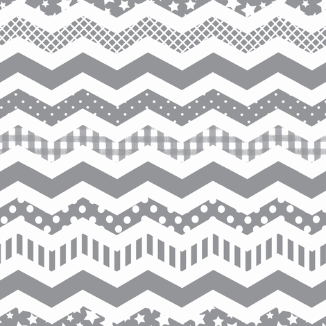 Charcoal Grey Chevron Pattern With A Funky Twist Fabric Impressive What Is A Chevron Pattern