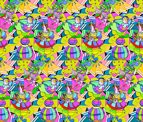 Smitten fabric by whimzwhirled on Spoonflower - custom fabric