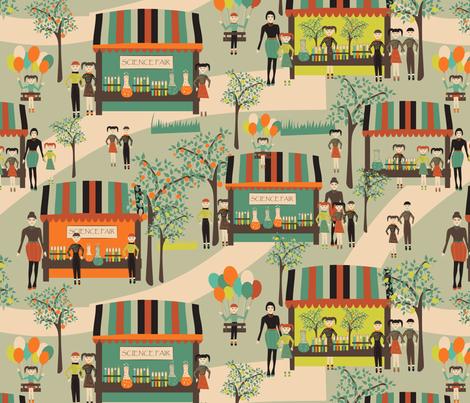 science fair on green fabric by kociara on Spoonflower - custom fabric