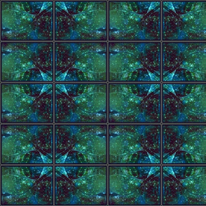 emerald and sapphire kaleidoscope