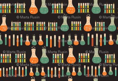 chemistry lab on black