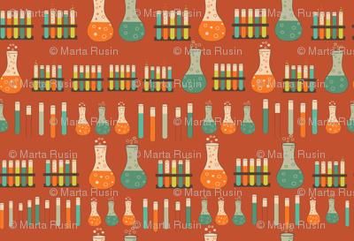 chemistry lab orange