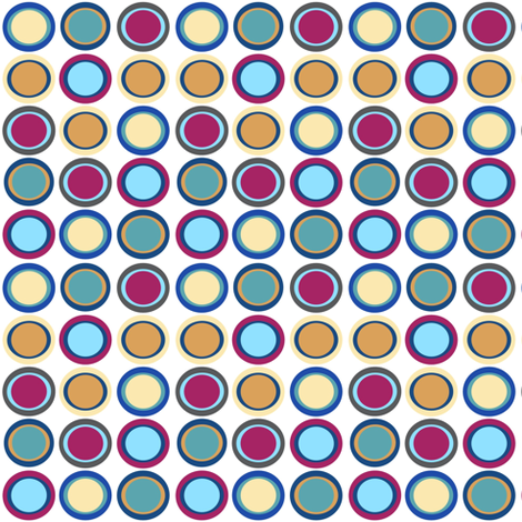 Baby Quilt Dots I fabric by vanillabeandesigns on Spoonflower - custom fabric
