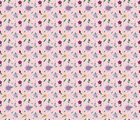 Feminine Spring fabric by firedryad1 on Spoonflower - custom fabric